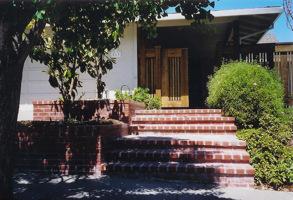 Brick Planters & Staircase San Rafael, California