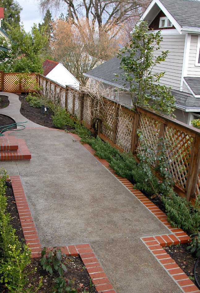 Exposed Aggregate Patio & Brick Edging Eugene, Oregon