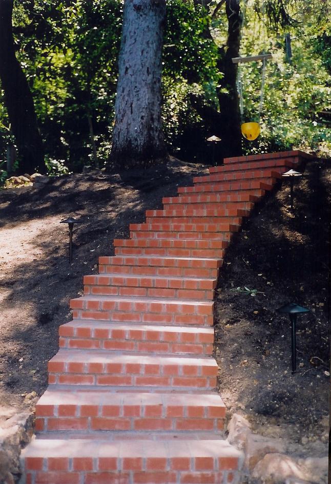 Curvilinear Brick Staircase San Anselmo, California