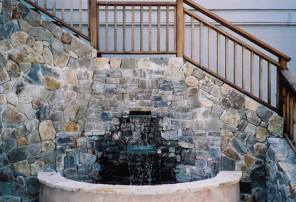 Stone Waterfall & Staircase Mill Valley, California
