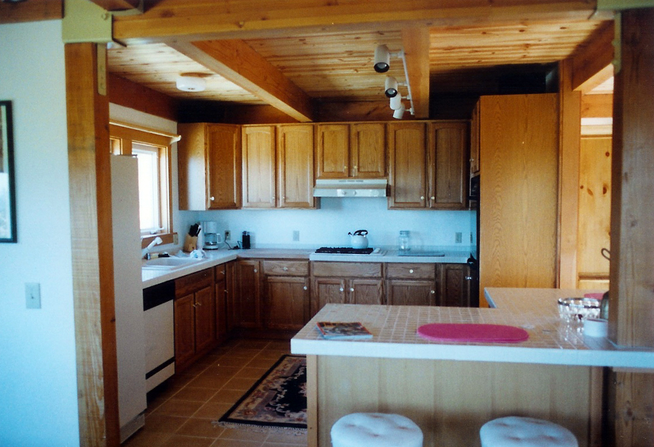 Knotty Pine Cieling & Hickory Kitchen Salmon Creek, California