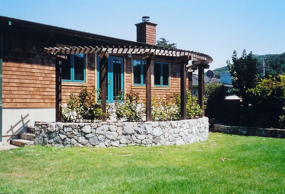 Bluestone Portico with Trellis Corte Madera, California
