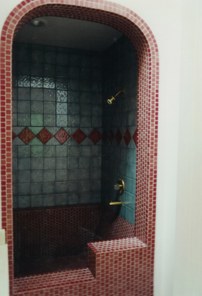 Italian Tile Mosaic Shower Larkspur California